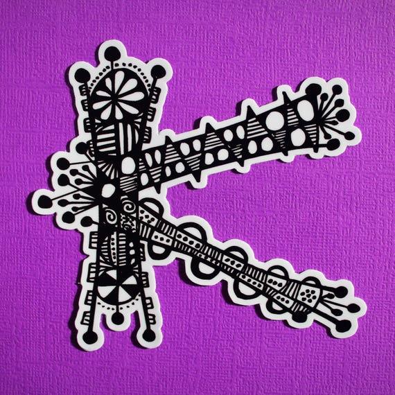 Letter K Sticker (WATERPROOF)
