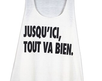 tank top women printed text - so far right - film - one size (36-40) - hate GL BOUTIK