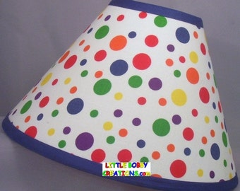 Polka dot lamp shade etsy popular items for polka dot lamp shade aloadofball
