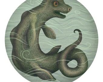 Storsie lake monster -  A4 art print