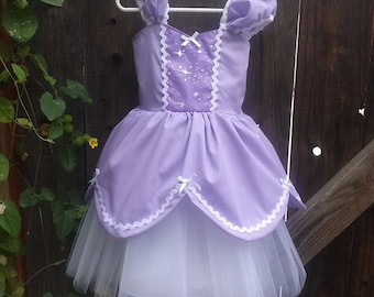 SOFIA the first dress,  Sofia the First  costume,  PRINCESS Sofia dress, lavender dress,  girls birthday party dress