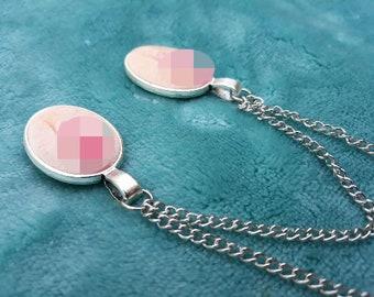 Vagina Chain Vulva Chest of Jewelery Nipples Skin Tone Clear Feminist Gift LGTB BDSM