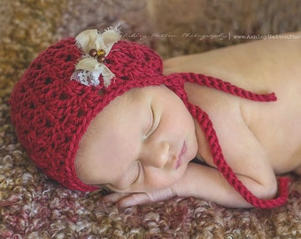 Crochet Pattern for Primrose Baby Bonnet Hat - 6 sizes, newborn to child - Welcome to sell finished items