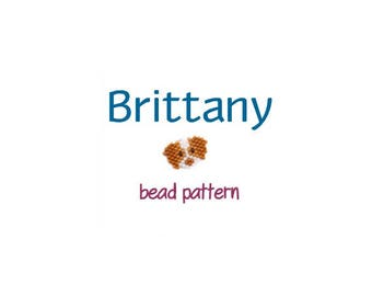 Brittany Dog Seed Bead Pattern, Miyuki Delica Brick Stitch, Hunting Spaniel