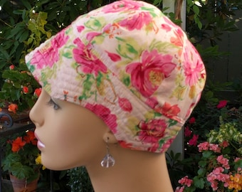 Cancer Hat Soft Chemo Cap Handmade in the USA Reversible Medium