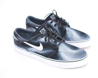 Hand Painted Smoke Nike Stefan Janoski skate shoes