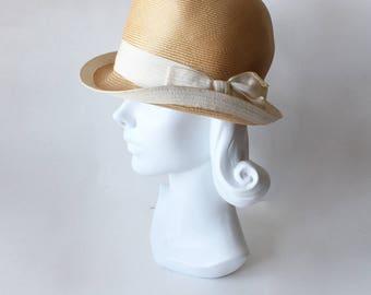 1960s Hat / Vintage Adolfo Réalités Summer Cloche Hat