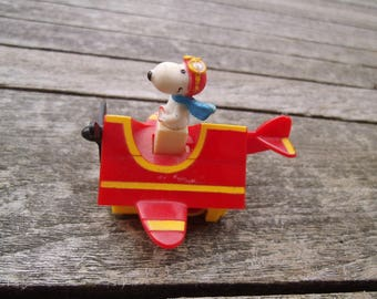 SNOOPY-orig. plastic-rolled Toy, 60s,70s
