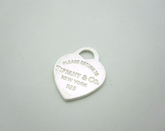 Please Return To Tiffany & Co. Sterling Silver Small Heart Tag Pendant