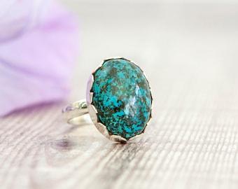 Azurite Silver Ring - Silver Ring - Gemstone Ring - Handmade ring