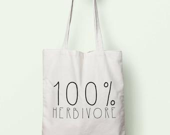 100% Herbivore Tote Bag Long Handles TB1709