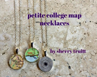 College Map Necklace Petite Graduation Gift for Her