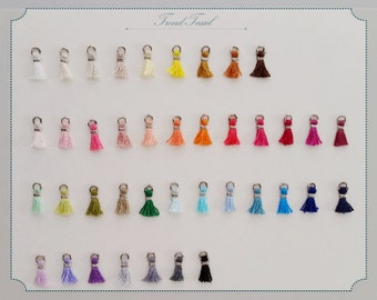 """20% Discount - 40pcs  (Silver Plating) 0.3"""" Egyptian Cotton Mini tassel Supply Whoesale"""