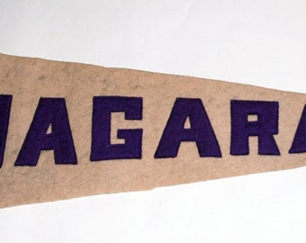 Genuine Vintage Original 1920s-'30s Sewn Letters Felt Pennant for Niagara  -- Free Shipping!