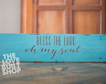 Rustic Wood Sign  | Christian Wood Sign | Blessed Wood Sign | Christian Decor | Christian Wall Art | Easter Sign