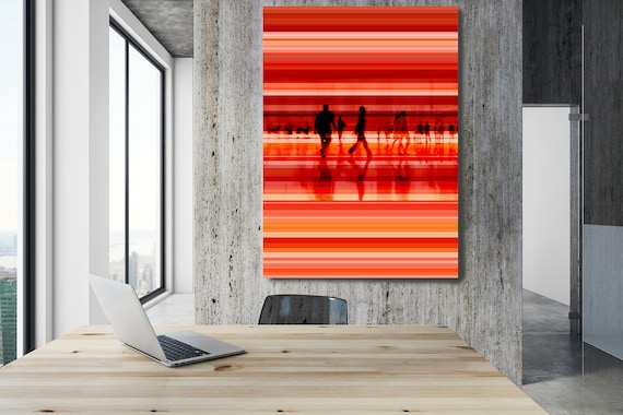 """Going To Work 2,  Art for Your Office, Office Wall Art, Red Corporate Office Decor, Extra Large Canvas Art Print up to 72"""" by  Irena Orlov"""