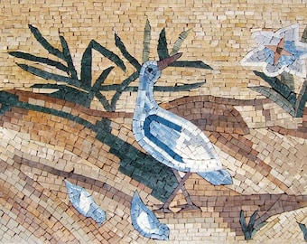 Mosaic Wall Art - Swallow Family