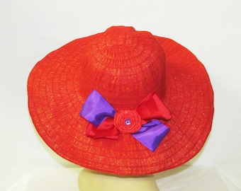Simply Sophisticated Red Hat Ladies Ribbon Hat (CC12)