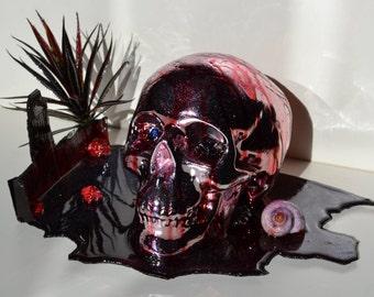 Bloody Glitter Skull Handmade