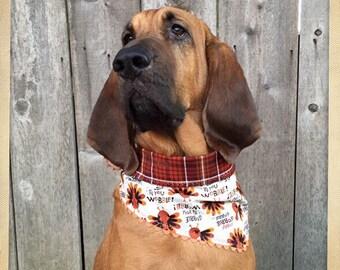Gobble Gobble Turkeys Thanksgiving Dog Bandana ~ Stylish Neckwear for Dogs & Cats