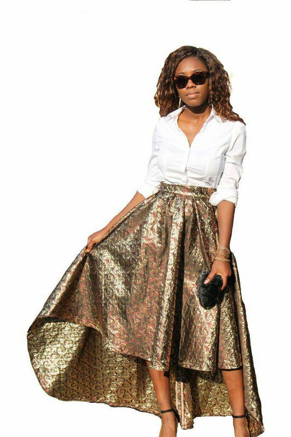 Felicitibelle High-Lo Maxi Occasion Partywear Skirt