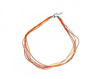 10 45cm Orange organza necklaces