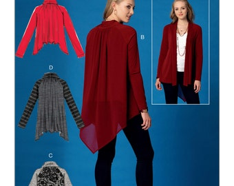 McCall's Pattern M7440 Misses' Raglan Sleeve Jackets with Shawl Collar