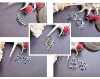 Connector Jewelry connectors Tibetan silver Antique bronze 3 5 8 10 11 hole connector 2 pcs