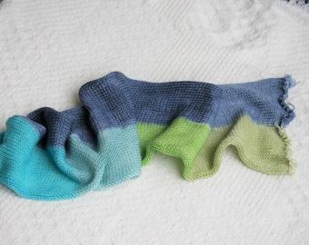 "Hand Dyed Superwash Merino Wool/Nylon in ""With a Twist"". Double Knit Sock Blank. Hand Dyed Yarn. Wool Yarn. Sock Yarn."