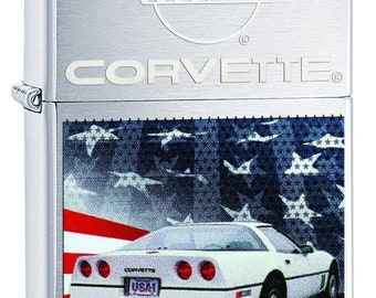 Patriotic 1984 Chevrolet Corvette Zippo Lighter