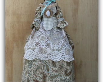 Queen Anne doll/18th century style/reproduction caged doll