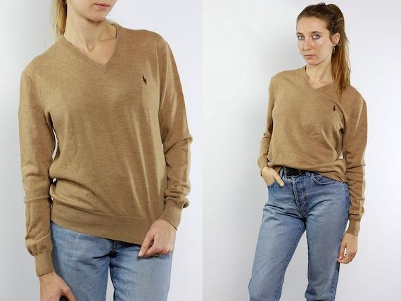 Ralph Lauren Sweater / Ralph Lauren Jumper / Ralph Lauren / Polo Ralph Lauren / Merino Wool Jumper / Merino Wool Sweater / Beige Wool Jumper