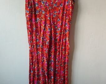 Orange culottes trousers