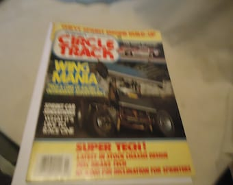 Vintage November 1984 Petersen's Circle Track Wing Mania Magazine Volume 1 Number 2, collectable