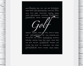Golf Words Wall Art Print...