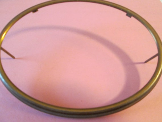 """Old Solid Brass Oval Clock Bezel  6 1/2"""" x 4 3/4"""" for your Clock Projects, Picture Framing and Etc."""