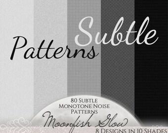 80 Subtle Seamless Patterns - Monotone Noise, Web Backgrounds, Textures - Commercial Use