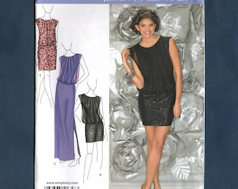 Simplicity 1658 Misses Party Dress Special Occasion Gown, Three Lengths, Sewing Pattern,  Sizes 6-8-10-12-14, Uncut Pattern