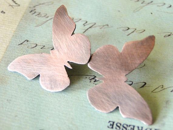 Butterfly Earrings, Woodland, Copper