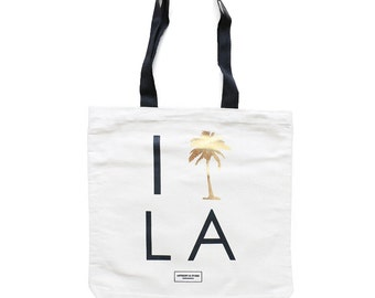 Los Angeles California Bachelorette and Wedding Guest Canvas Tote Bag, Party Favors