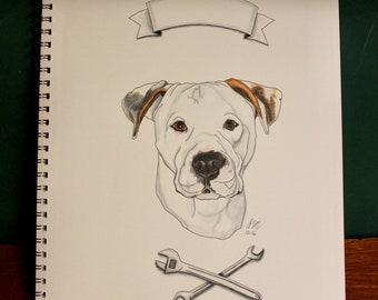 Original Dog Portrait 11x14