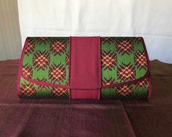 Handmade silk clutch 001