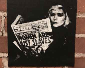 "Debbie Harry ""Women are Just Slaves"" Back Patch"