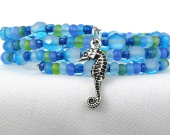 Seahorse Memory Wire Bracelet