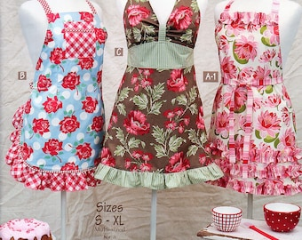 MORE RETRO APRONS Cindy Taylor Oates Sizes Small - XLarge Taylor Made Designs #167