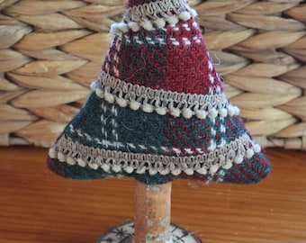 Harris Tweed Christmas tree, decorative tree, Christmas ornament, xmas decorations, decoration, christmas gift, holiday decor, festive
