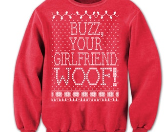 "Ugly Christmas Sweater ""MERRY CHRISTMAS. FILTHY Animal!"" Off the shoulder. sweater. man. Home Alone. Sweater"