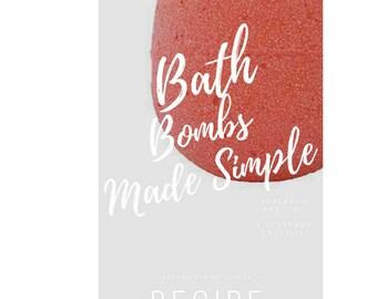 How to make  Bath Bombs - Simple Bath Bomb Recipes - Bath Bomb Tutorial - DIY bath bombs - learn to make bath bombs