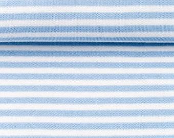 Bündchen – Umfang 80cm – Hellblau gestreift