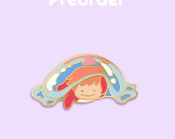 PREORDER FISH PONYO Ditto x Anime Movie Enamel Pin [Studio Ghibli Ponyo on the Cliff by the Sea Hayao Miyazaki Film Pokemon Parody]